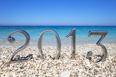 New year 2013 on the beach Stock Image