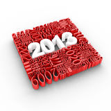 New year 2013 calendar. New year 2013. Cube of many year numbers Stock Illustration