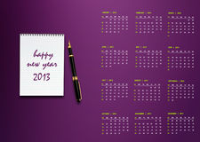 New year 2013 Calendar Royalty Free Stock Images