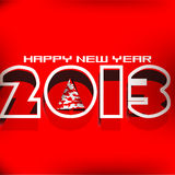 New Year 2013 card design. With shiny color background Royalty Free Stock Image