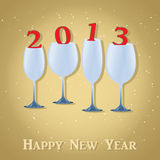 New Year 2013 Celebration. Stylish Wine Glass. Vector illustration. Eps 10 stock illustration