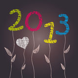 New Year 2013 Celebration. Abstract flowers. Vector illustration. Eps 10 vector illustration
