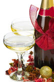 New Year champagne composition Royalty Free Stock Image