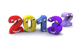 New year 2013 changing 3D rander. New year 2013 changing 3D illustration royalty free illustration