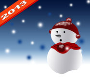 New Year 2013 with christmas design Royalty Free Stock Photo