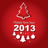 New Year 2013, Christmas tree. Vector illustration, New Year 2013, Christmas tree Stock Photography
