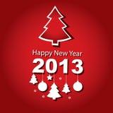 New Year 2013, Christmas tree Stock Photography