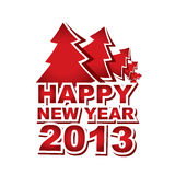 New Year 2013, Christmas tree. Vector illustration, New Year 2013, Christmas tree Stock Photos