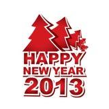 New Year 2013, Christmas tree Stock Photos