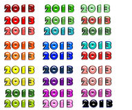 New Year 2013 colored Stock Images