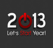 New year 2013 concept. Abstract background Royalty Free Stock Images