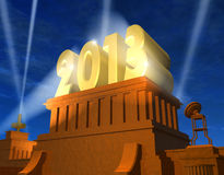 New Year 2013 concept. Creative New Year 2013 concept royalty free illustration