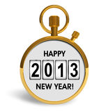 New Year 2013 concept. Creative New Year 2013 concept isolated on white background Stock Illustration
