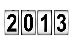 New Year 2013 concept. Creative New Year 2013 concept isolated on white background Royalty Free Stock Image