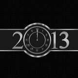 New year 2013 concept with clock. New year 2013 with clock instead number zero Stock Photo