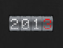 New year 2013 counter. Design component of a counter dial that is showing the year 2013 Royalty Free Stock Photography
