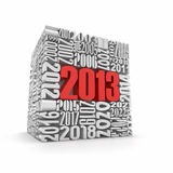 New year 2013 .Cube built from numbers. Stock Image
