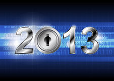 New year 2013 with digital concept Stock Images