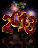 New Year 2013 fireworks  Royalty Free Stock Photo