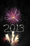 New Year 2013 Fireworks. Picture and illustration of New Year 2013 Fireworks royalty free illustration