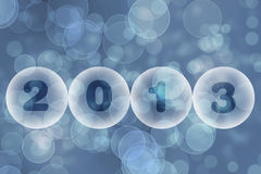 New Year 2013 greeting card. Blue abstract background Stock Photos