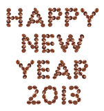 New Year 2013 made of  coffee Stock Photos