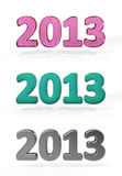 New year 2013 numbers. On white Stock Photo