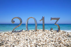 New Year 2013 On The Beach Stock Photography