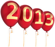 New Year 2013 party balloons beautiful decoration Royalty Free Stock Photography