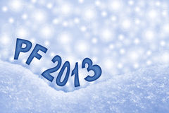 New Year 2013, PF greeting card Stock Image