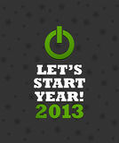 New Year 2013 Power Button. Abstract background Royalty Free Stock Photos