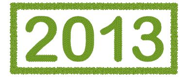 New Year 2013 in Rectangle Frame Royalty Free Stock Images