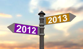 New year 2013 signpost Stock Photography