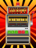 New year 2013 in slot machine. Illustration Stock Images