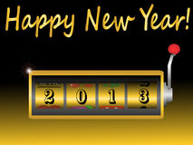 New year 2013 in slot machine  Royalty Free Stock Photos