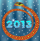 New Year 2013 Snake. Royalty Free Stock Image