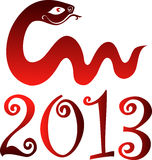 New Year 2013. Snake year. Snake year 2013. Chinese zodiac symbol Stock Photography