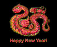 New Year 2013 snakes. Original card for New Year 2013 snakes Royalty Free Stock Images