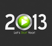 New Year 2013 start button. Abstract background Stock Photography