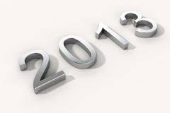 New year 2013 steel Stock Photo