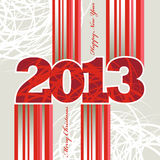 New Year 2013 Stripes. 2013 Christmas and New Year greeting card Stock Photos