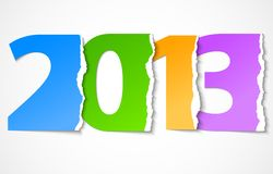 New year 2013 torn paper. Vector illustration Stock Photos