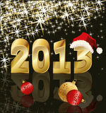 New Year 2013, vector illustration Stock Photography