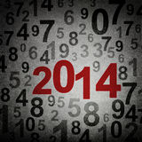 New year 2014. On numbers fabric background Stock Images