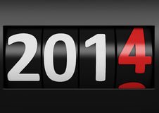 New year 2014. Counter number 2014 black new year Royalty Free Stock Photography