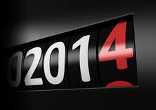 New year 2014. Counter number 2014 black new year Royalty Free Stock Images