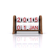 New year 2015. 3D illustration - date, January 1, 2015, new year vector illustration