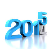 New year 2015. Here comes the new year ... 2015 - 3D Royalty Free Stock Image