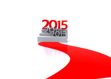 New year 2015. 3D illustration - Here comes the new year     2015 Royalty Free Stock Image