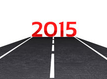New year 2015. 3D illustration - the road leading to the New Year 2015 Stock Images
